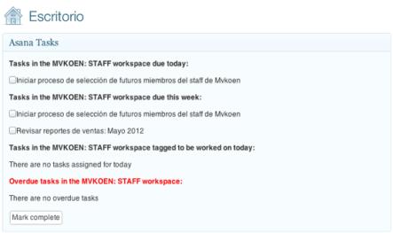 Lo que te permite hacer Asana Task Widget
