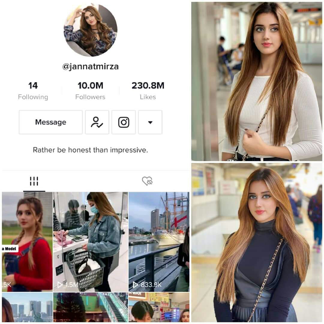 Jannat Mirza is Only Pakistani Celebrity to Reach 10 Million Milestone at any Social Media Platform