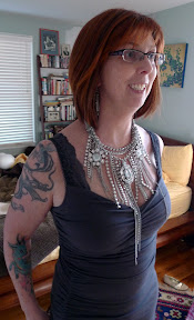 Woah.  New glam necklace gets Trish excited.