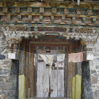 Prayer wheel house, Yaza village, Daocheng county, Sichuan.