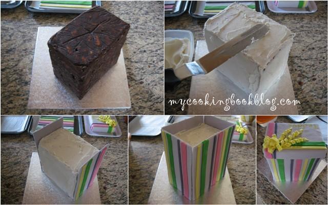 Торта мече в кутия