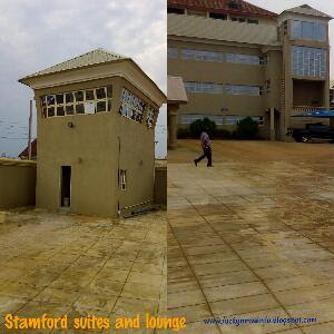 watch tower and side view of stamford suites and lounge