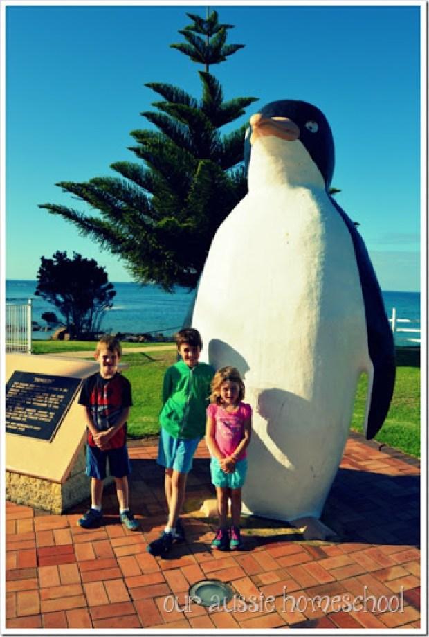 Big Penguin in Penguin, Tasmania | Our Aussie Homeschool