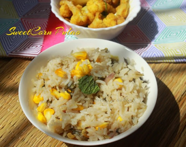 SweetCorn Pulao2