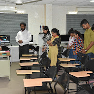 Students in studio