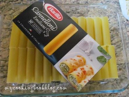 Канелони с кайма и сирене Фета