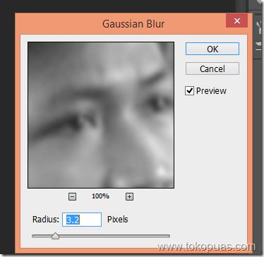 tutorial mempertajam foto dengan gaussian blur