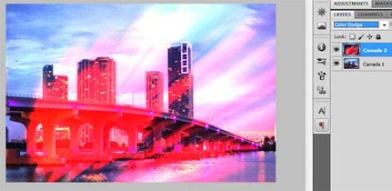 Mesclagem Subexposição de cor (Color dodge)