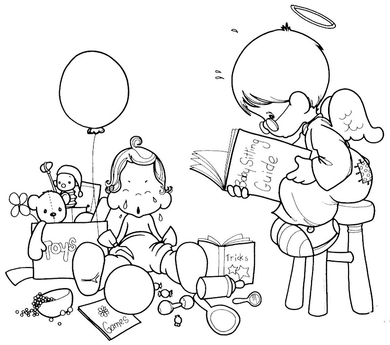 guardia angel reading a book  precious moments free