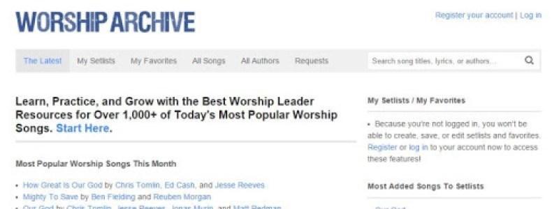 Worship Archive chords and lyrics