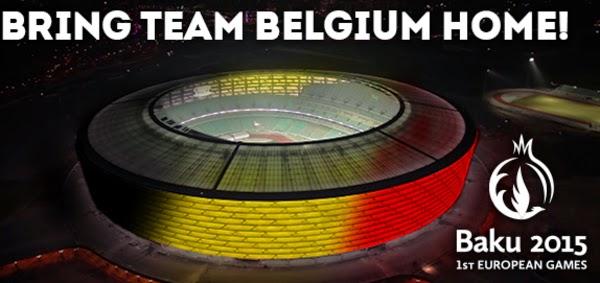 Bring Team Belgium home - Europese Spelen in Bakoe