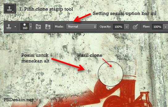 Clone stamp tool