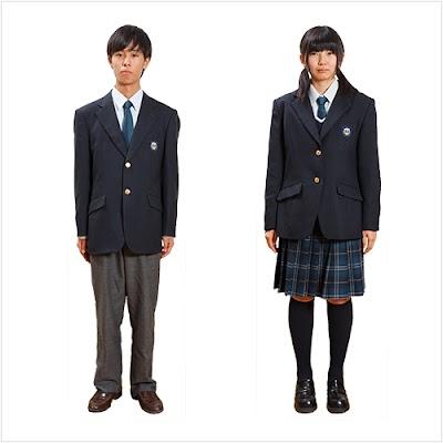 上田西高等学校の女子の制服1