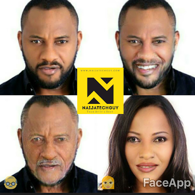 Check Out Ex President Obasanjo, Tekno, Genevieve Nnaji And Others After A FaceApp Transformation 5