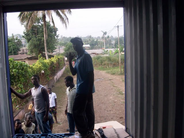 Container Arrival & Offloading in Buea - 100_9100.JPG
