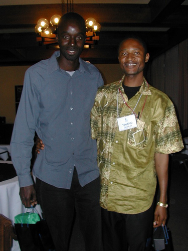 Mamadou & Tinshu. Mamadou had just finished his MBA at the Leavey School of Business and was assisting with work during the GSBI. Thank you Mamadou.