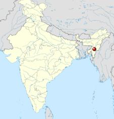 Location of Tipaimukh Dam