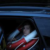 Samåkning i Jockes bil. Bilen är full av liv bojar