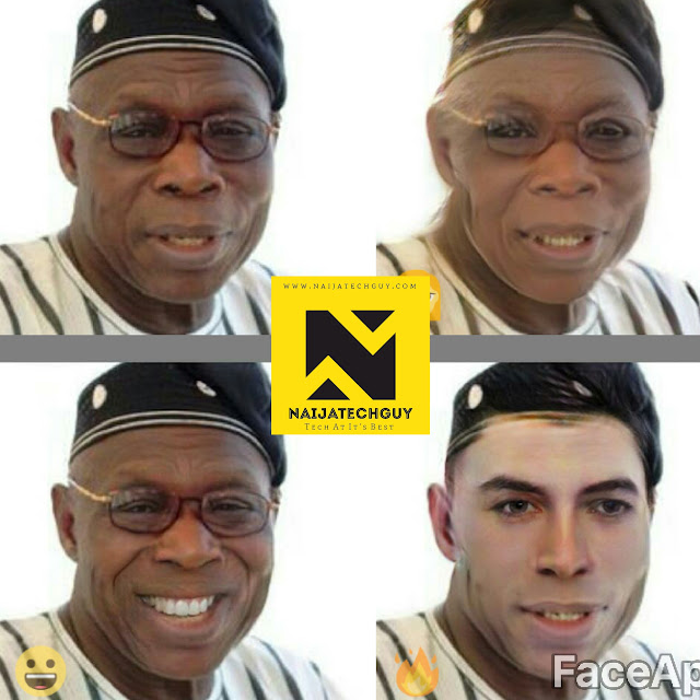 Check Out Ex President Obasanjo, Tekno, Genevieve Nnaji And Others After A FaceApp Transformation 1