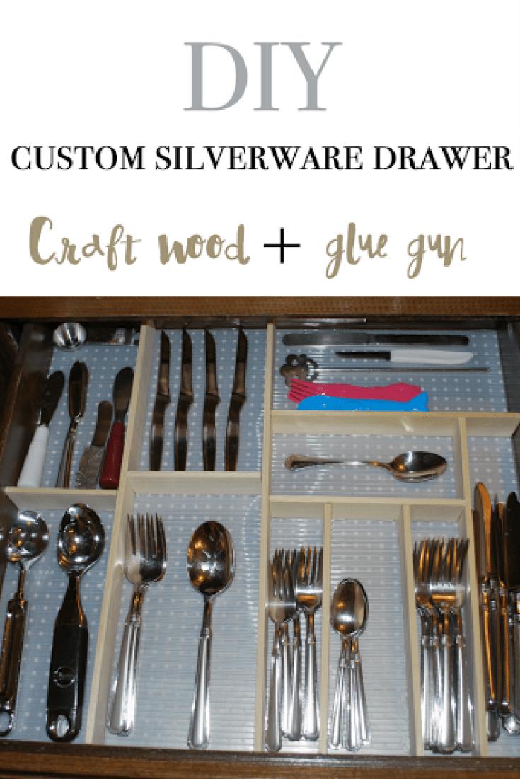 DIY custom silverware drawer