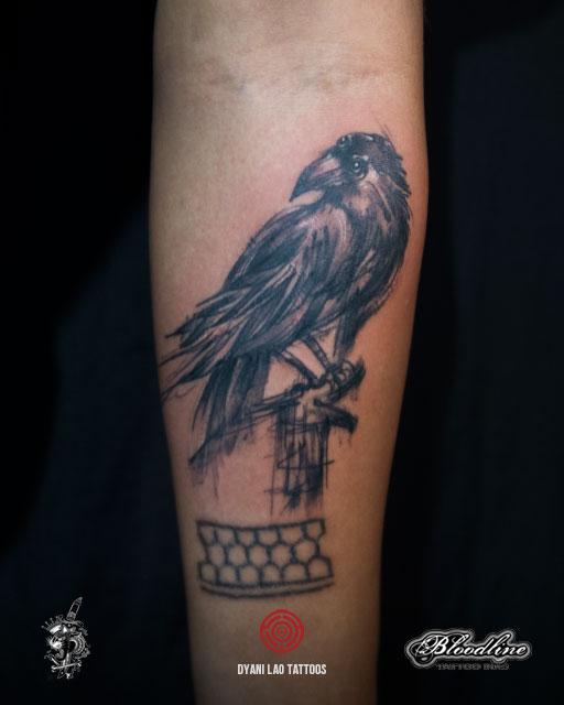 3 Eyed Raven - Dyani Lao Tattoos and Art