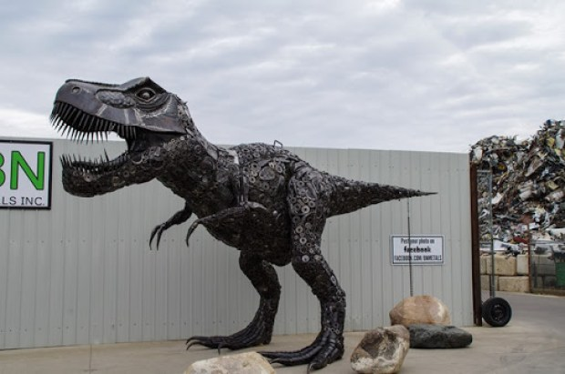 Dinosaur at BN Metals in Saskatoon