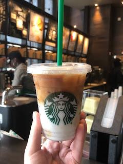 4.An iced latte with vanilla bean powder