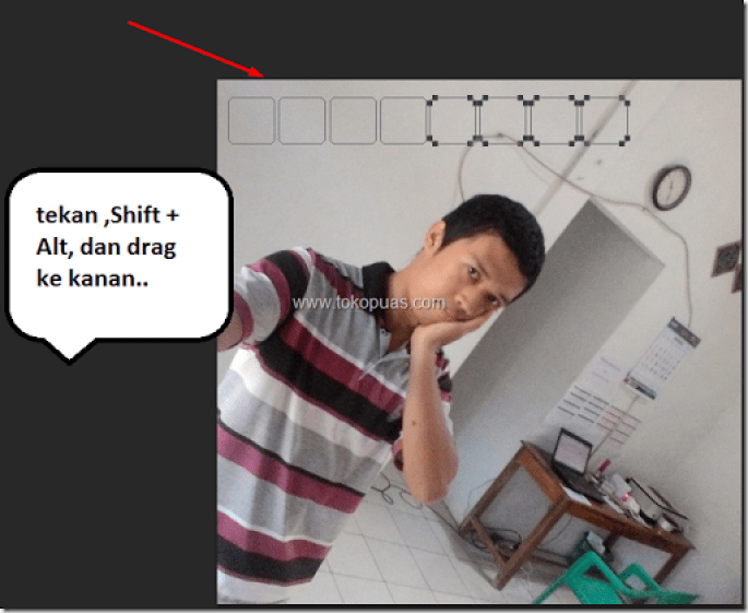 tutorial efek photoshop kotak kotak cool