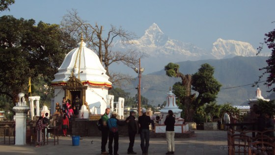 Bindabasini temple and Fishtail as seen from there - 2