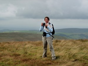 A photographer at Shining Tor