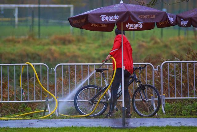 fiets afspuiten