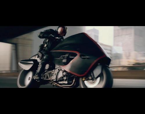 Karl Urban as Judge Dredd. Image copyright Reliance Films