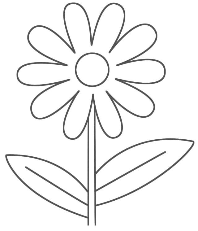 Unique Simple Flower Coloring Pages For Kids Design - Kids