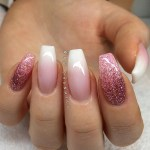 Pretty nail paint with shimmer for women