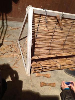 伝統的な玉露や抹茶の覆いで使われる、よしずの作り方 - 12