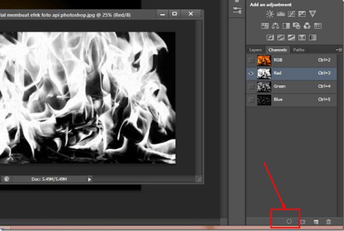 tutorial cepat meciptakan efek teks api photoshop