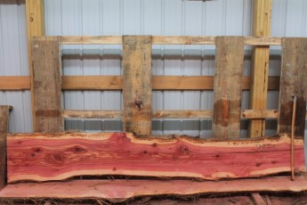 "Cedar 283-5  Length 10' 6"" Max Width (inches) 18 Min Width (inches) 13 Thickness 8/4  Notes : Kiln Dried"