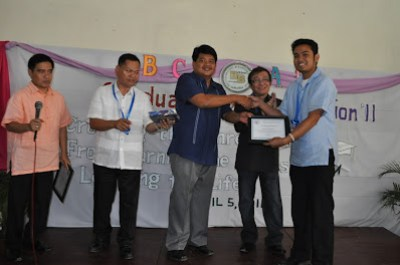Sir Jerome receives a plaque of appreciation from Mr. James Bico, Bethsaida Board Chairman.