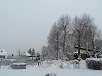 Starker Schneefall am Sonntag in Villach