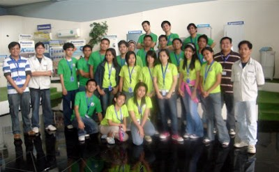 February 27: Tour guides and managers of Panasonic Philippines pose together with MCCID Students.