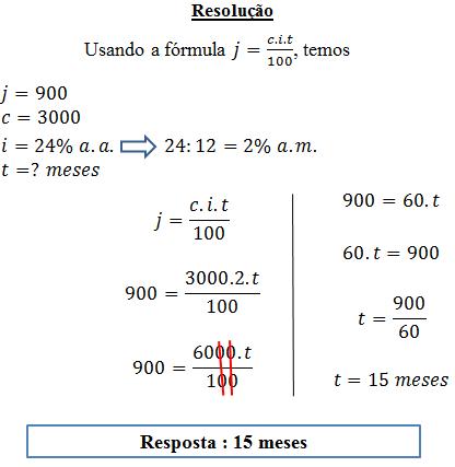 Exercícios resolvidos de juros simples
