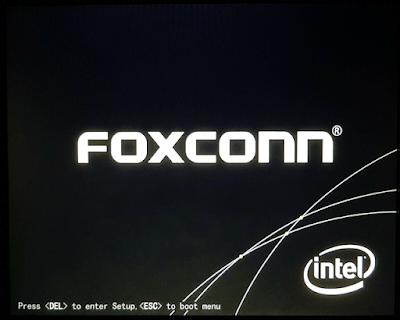 Giao diện hướng dẫn cách vào bios foxconn