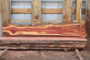 "Cedar 281-1  Length 8' 6"" Max Width (inches) 16 Min Width (inches) 6 Thickness 8/4  Notes : Kiln Dried"