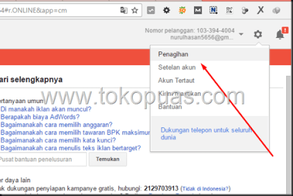 cara isi google adwords