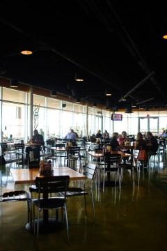 Eating at Divine Cafe.