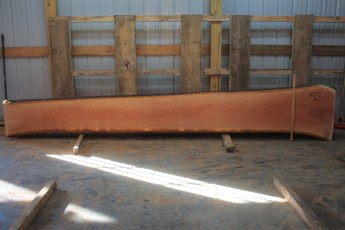 Cherry 293-2  Length 14' Max Width (inches) 27 Min Width (inches) 16 Thickness 8/4  Notes :