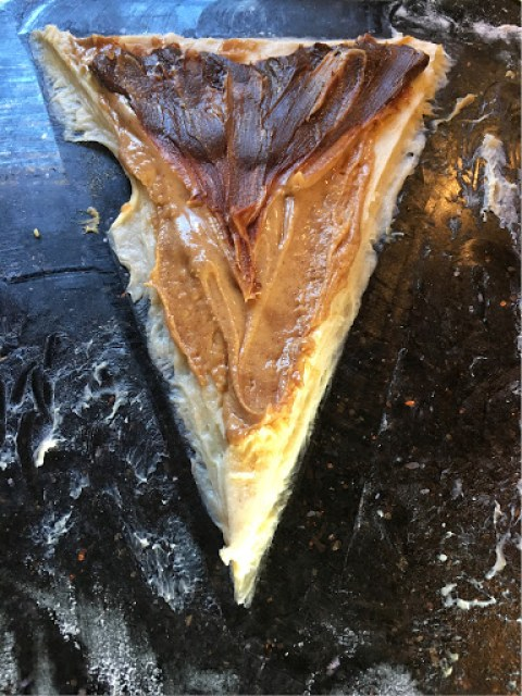 peanut butter and chocolate pastry