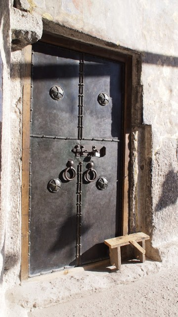 The chapel door  inside Vardzia