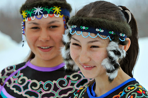Sakhalin girls from the Sakhalin islands, East Russia (north of Japan)