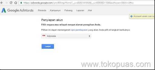 cara membayar adwords dengan bank lokal indonesia